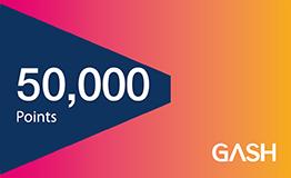 GASH 50000點