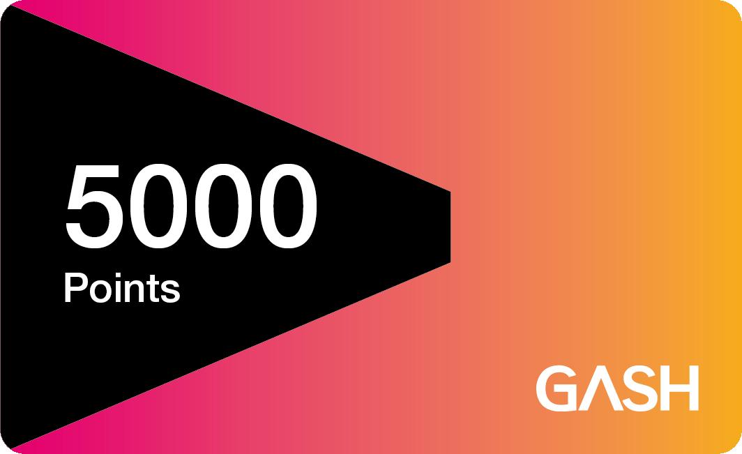 GASH 5000點(2019/7/8至2019/8/6 會員返點5%)